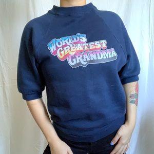 Vintage short sleeve sweatshirt